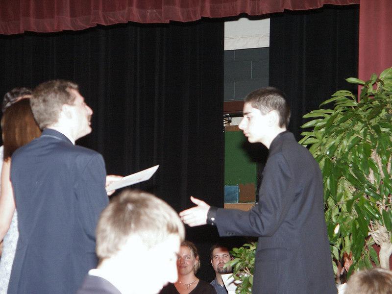 Ben gets middle school diploma   (Jun 19, 2003, 07:09pm)