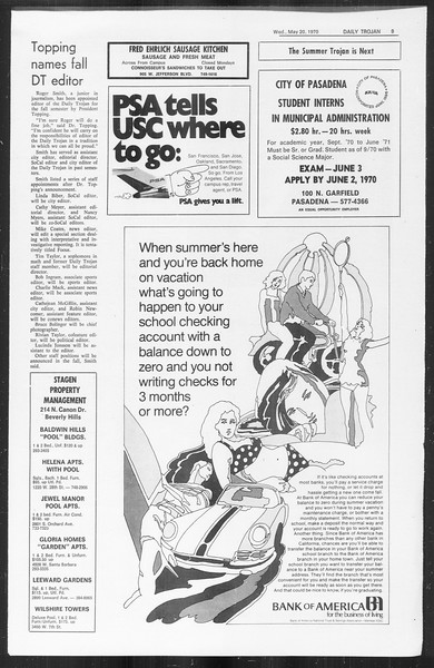 Daily Trojan, Vol. 61, No. 127, May 20, 1970