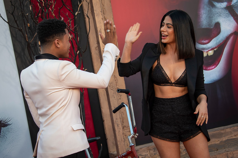 "WESTWOOD, CA - AUGUST 26: Chosen Jacobs and Emeraude Toubia attend the Premiere Of Warner Bros. Pictures' ""It Chapter Two"" at Regency Village Theatre on Monday, August 26, 2019 in Westwood, California. (Photo by Tom Sorensen/Moovieboy Pictures)"
