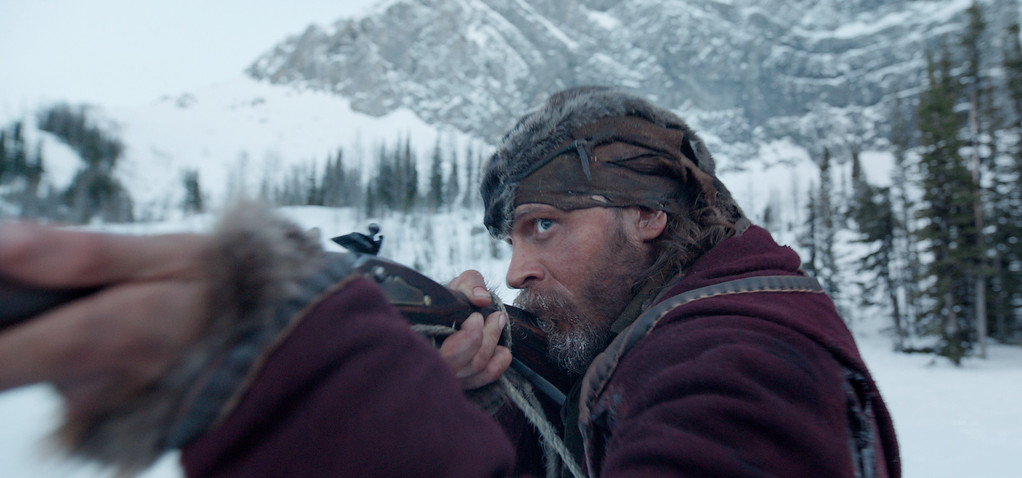 """. This photo provided by Twentieth Century Fox shows Tom Hardy in a scene from the film, \""""The Revenant.\"""" Hardy was nominated for an Oscar for best supporting actor on Thursday, Jan. 14, 2016, for his role in the film. The 88th annual Academy Awards will take place on Sunday, Feb. 28, at the Dolby Theatre in Los Angeles. (Twentieth Century Fox via AP)"""