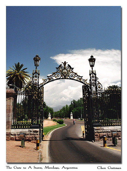 The gate to San Martin park, Mendoza
