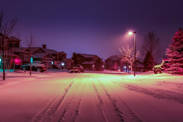 SnowyNightFrontyardErieCO-003