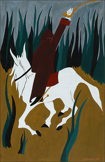 "Jacob Lawrence, ""The Life of Toussaint L'Ouverture No. 29"" (1938)"