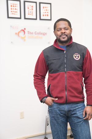 Gabriel Fotsing with The College Initiative