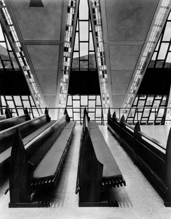 . Interior of the Air Force Academy chapel in 1964. The Denver Post Library Archive