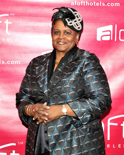 21 April 2012-New York, NY- Hat designer, on red carpet, at Fashion Avenue News Magazine launch party at the Aloft Harlem Hotel. Photo Credit: Duncan Williams/Sipa USA