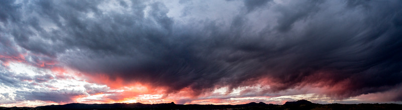 Painterly mid-level clouds over Prescott