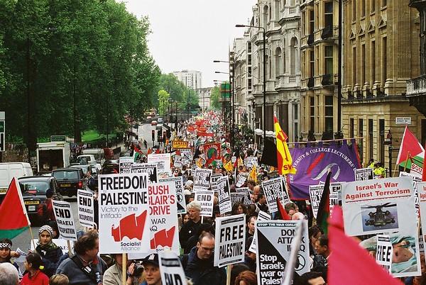 Palestinian Solidarity Demo 13th April 2002