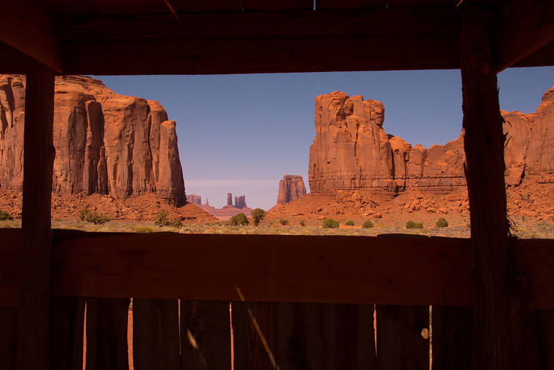 The North Window as viewed from a Navaho vendor stand.