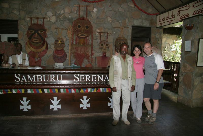 With our guide George at Samburu.