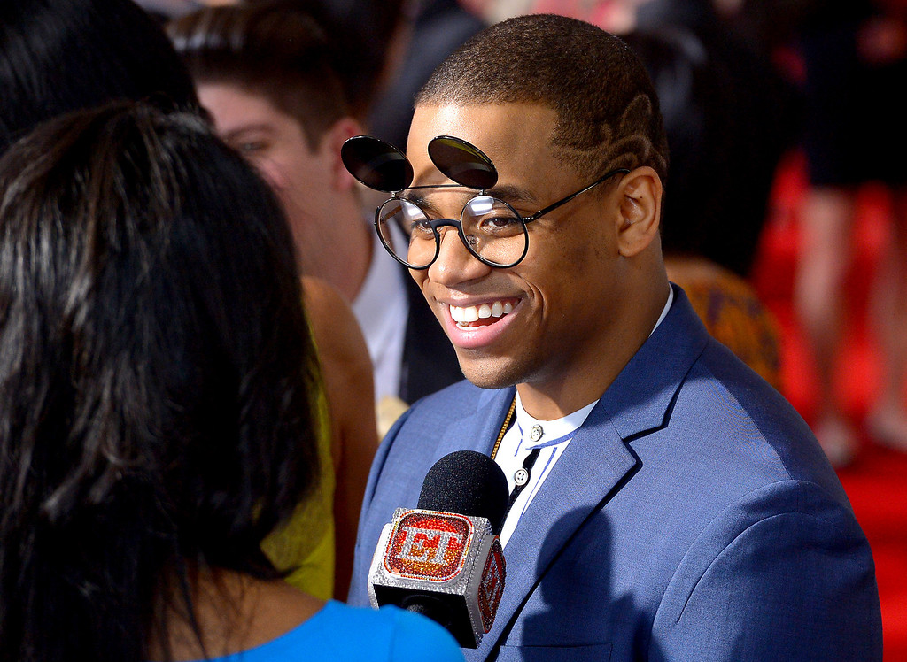 . Mack Wilds arrives at the 56th Annual GRAMMY Awards at Staples Center in Los Angeles, California on Sunday January 26, 2014 (Photo by David Crane / Los Angeles Daily News)