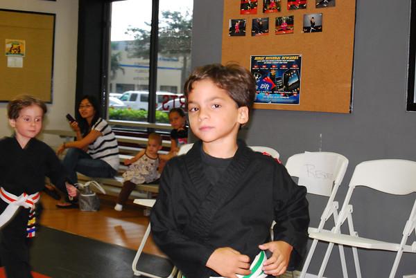 Color Belt Graduation - Lil Ninjas 8.16.12