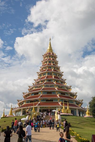 Chinese temple - Wat Hyua Pla Kang Chiang Rai, Thailand - December, 2017