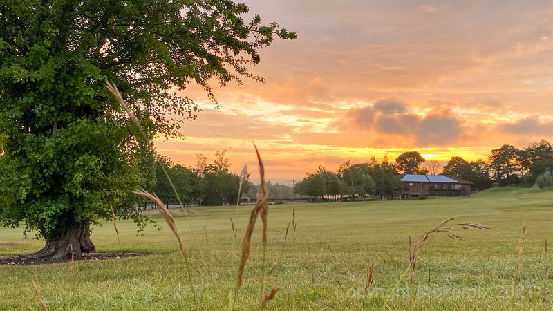 Dawn over the clubhouse