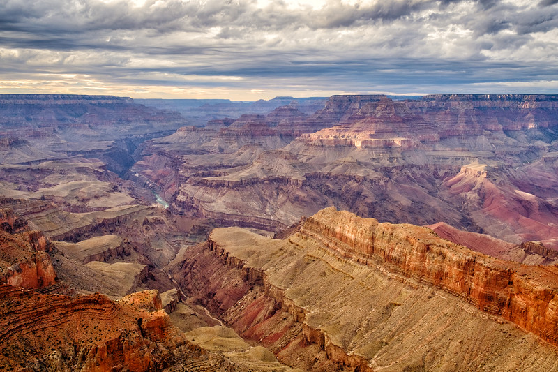 This was taken from Lipan Point (or maybe Moran Point) along Desert View Drive