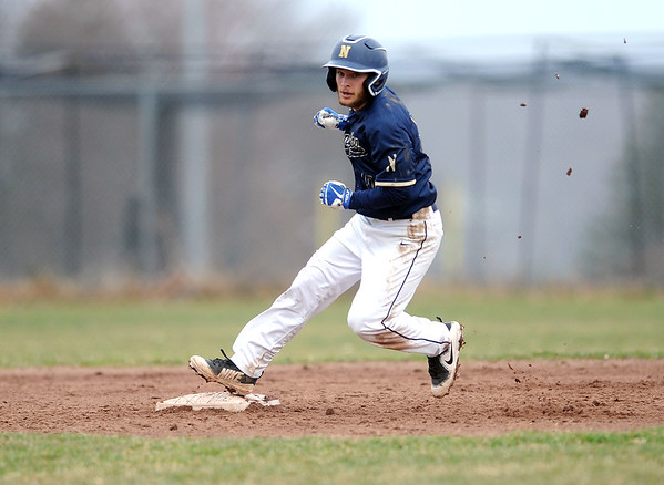 4/12/2019 Mike Orazzi | Staff Newington's DeBlasio Anthony (10) during baseball on Friday at Bristol Central.