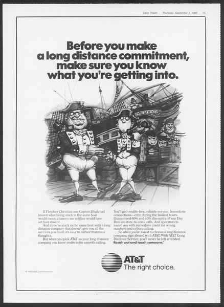 Daily Trojan, Vol. 100, No. 3, September 05, 1985