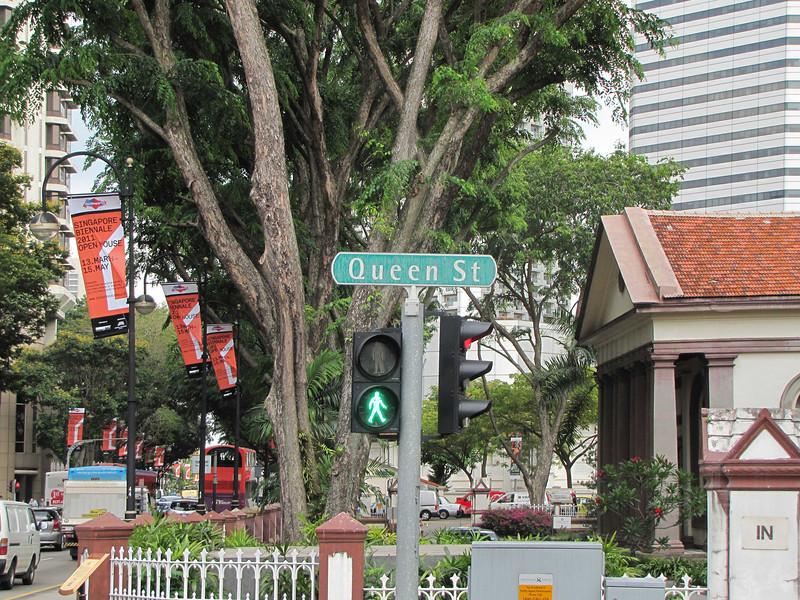 11-Good Shepherd at right, Queen St at Bras Basah Road