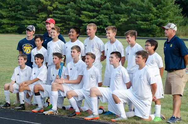 7-8 grade Boys Varsity Soccer August 2017