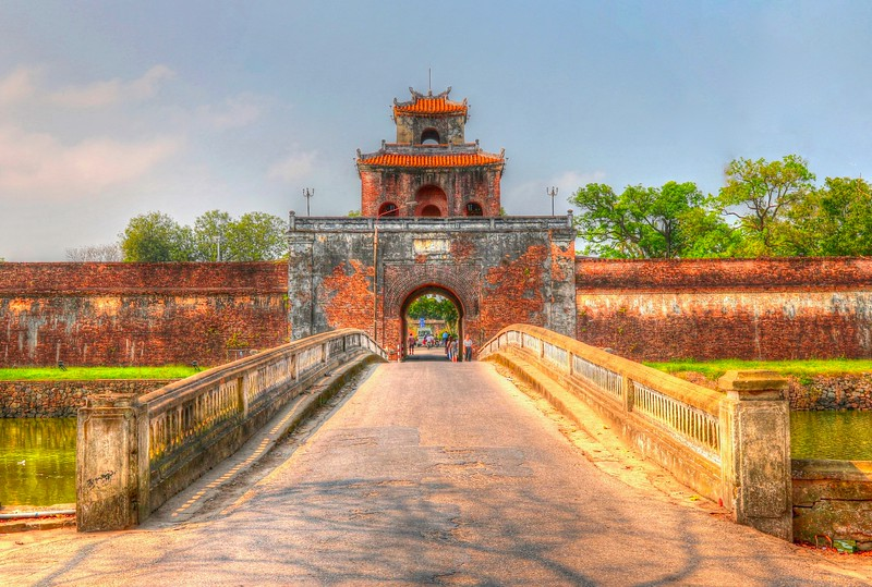 Imperial City - Hue - Construction began in 1802 under Emperor Gia Long, the first emperor of the Nguyen Dynasty. Surviving 143 years and 14 emperors, the Nguyen dynasty came to an end when Emperor Bao Dai abdicated the throne and transferred power to the Democratic Republic of Vietnam in 1945.