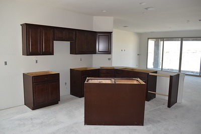 April 24 - Kitchen cabinets complete