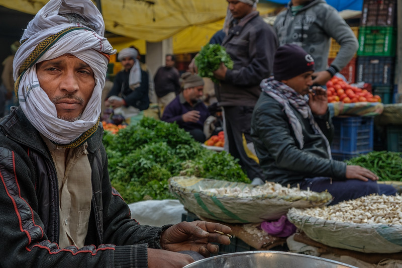 Vegetable Market, Delhi, India