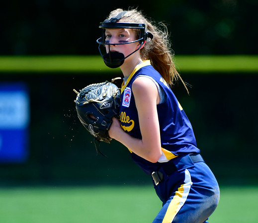 7/24/2019 Mike Orazzi | Staff New Jersey's Caroline Walls (1) during Wednesday's Little League Softball game in Bristol.