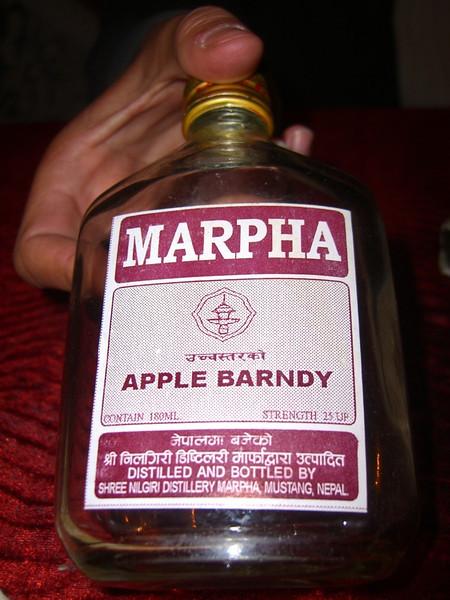 Marpha Apple Brandy - Annapurna, Nepal