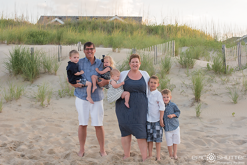 Nags Head, Family Portraits, Family Beach Portraits,North Carolina, Outer Banks, Epic Shutter Photography,