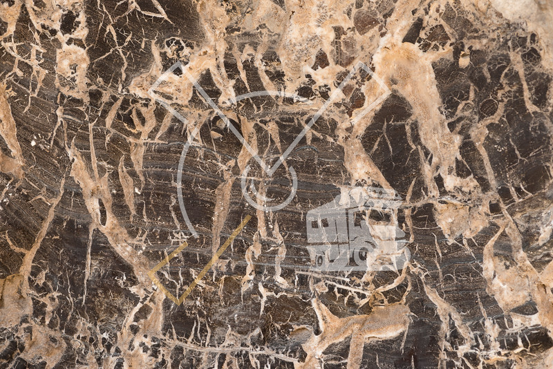 Details of The Crystal Mountain, a ridge located between Bahariya Oasis and Farafra Oasis