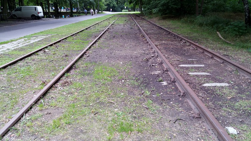 We discovered Westerplatte by accident.We took the bus which runs all the way up to the site.This was the rails that led into the depot.