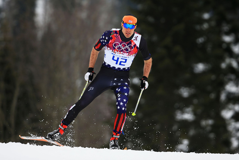 . Torin Koos of the United States competes in Qualification of the Men\'s Sprint Fee during day four of the Sochi 2014 Winter Olympics at Laura Cross-country Ski & Biathlon Center on February 11, 2014 in Sochi, Russia.  (Photo by Richard Heathcote/Getty Images)
