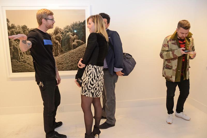 "EAST VILLAGE, NEW YORK - OCTOBER 21: Helene Schmitz ""Kudzu Project"" opening at the TURN Gallery on October 21, 2015 in East Village, New York. (Photo by Lukas Maverick Greyson)"