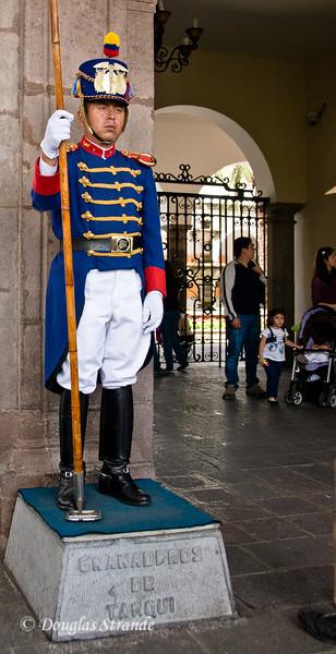 Quito, Ecuador Palace guard