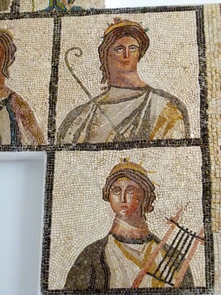 Part of the Four Seasons Mosaic in the Sabratha Museum.
