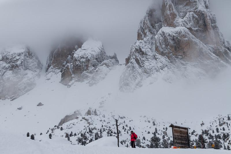 Foggy day near Sassolungo