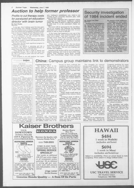 Summer Trojan, Vol. 109, No. 4, June 07, 1989