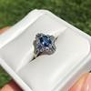 1.41ctw Art Deco Style Aqua and Diamond Dinner Ring 11