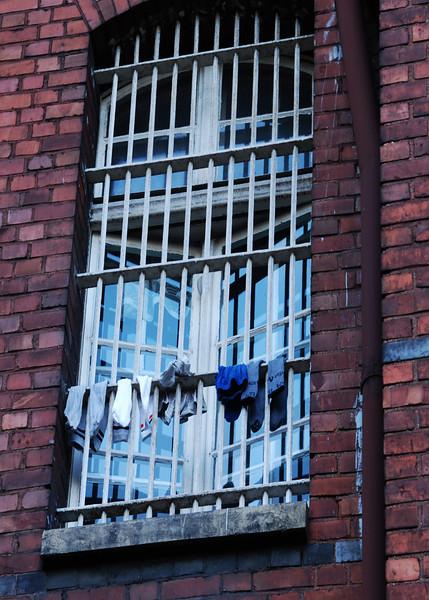 Mental institution in Poland  socks  drying on window bars .jpg