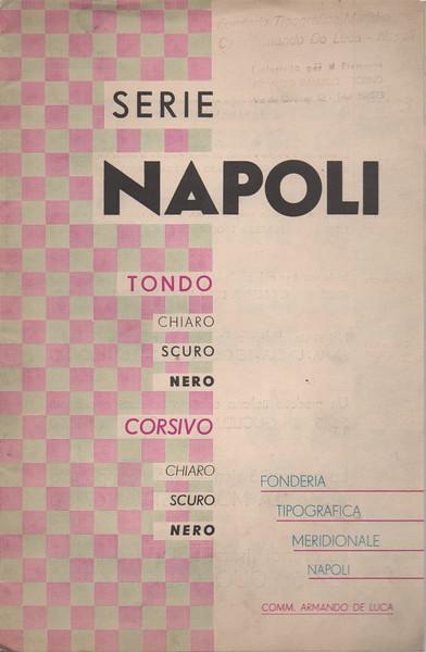 Prospectus of the Napoli series by Fonderia Tipografica Meridionale A. De Luca. 1950s.