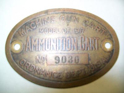 MODEL OF 1917 MACHINE GUN CART #9030