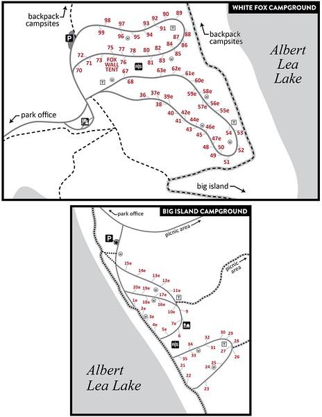 Myre-Big Island State Park (Campground Maps)