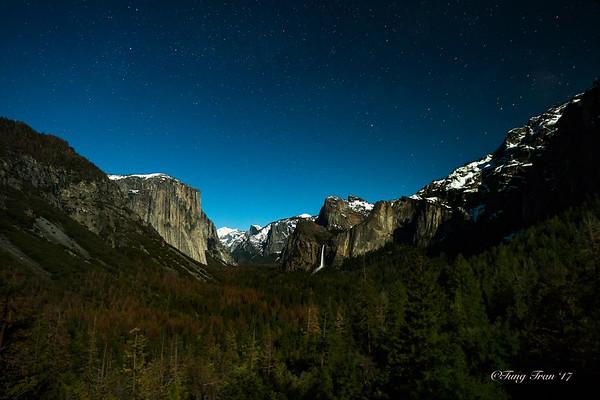 Yosemite - Horsetail Falls At Sunset 2-14-2017