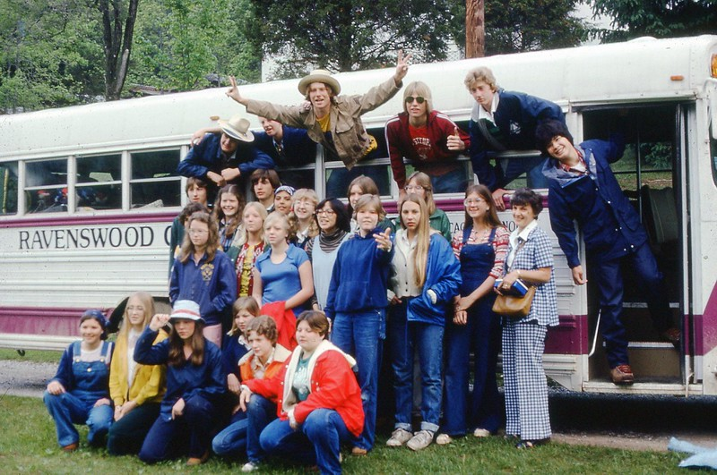 1977 - Work Camp Arriving.jpg