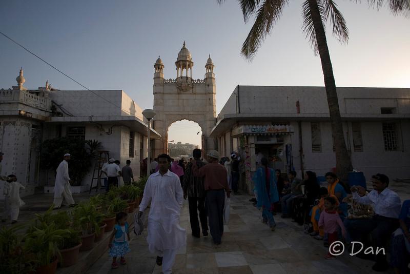 The Haji Ali mosque entrance