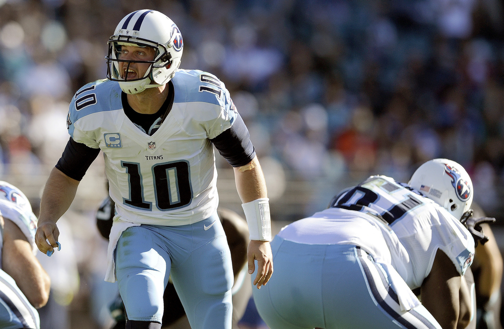 . Jake Locker, Washington Selected eighth overall by the Titans in 2011 Locker earned the starting job in Tennessee his second season. He started 11 games in 2012 � Locker missed five games due to injury � and passed for 2,176 yards, 10 touchdowns and 11 interceptions. (AP Photo/Stephen Morton, File)