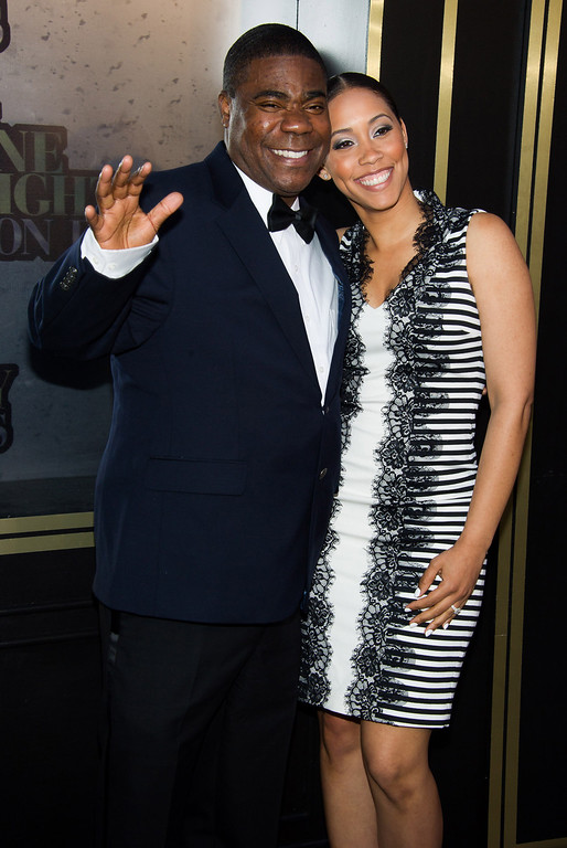 . Tracy Morgan and Megan Wollover attend One Night Only: An All-Star Tribute To Don Rickles on Tuesday, May 6, 2014 in New York. (Photo by Charles Sykes/Invision/AP)