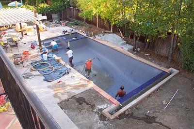 Pool/landscape project 2001-2002