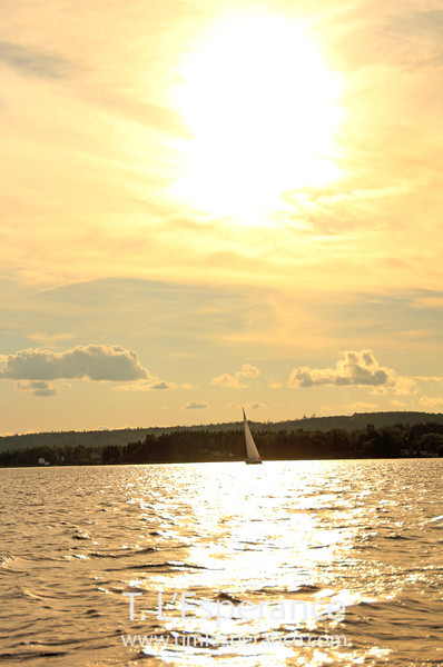 Portrait of a beautiful evening sail... C&C on St. Margaret's Bay.