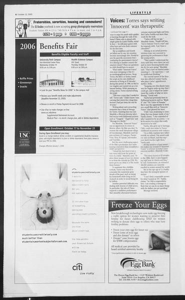 Daily Trojan, Vol. 156, No. 36, October 12, 2005